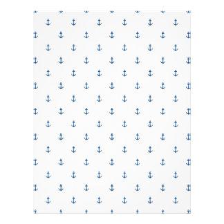 Anchor seamless texture letterhead