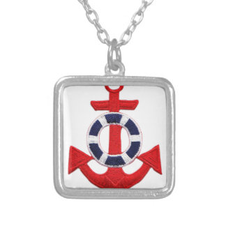 anchor silver plated necklace