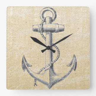 Anchor Square Wall Clock