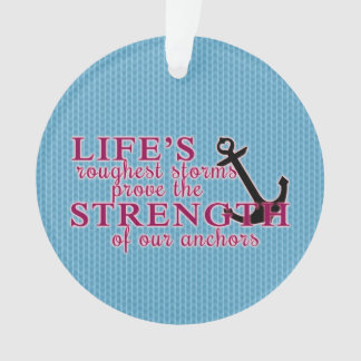 Anchor Strength Quote Ornament