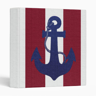 Anchor & Stripes binder