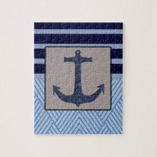 Anchor & Stripes Nautical Design Puzzles