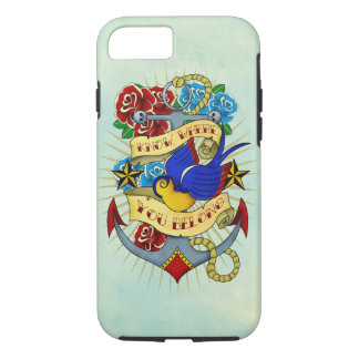 Anchor, Swallow and Roses iPhone 8/7 Case