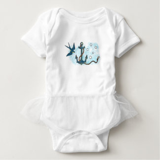 Anchor Swallow Southern Star Tattoo Baby Bodysuit