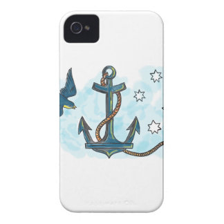 Anchor Swallow Southern Star Tattoo Case-Mate iPhone 4 Case