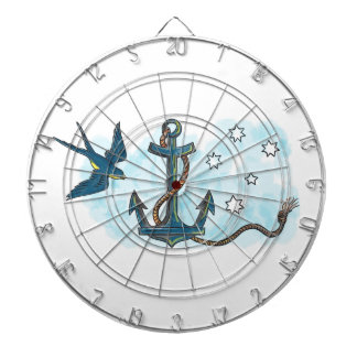Anchor Swallow Southern Star Tattoo Dartboard