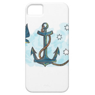 Anchor Swallow Southern Star Tattoo iPhone 5 Case