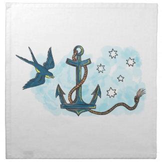 Anchor Swallow Southern Star Tattoo Napkin