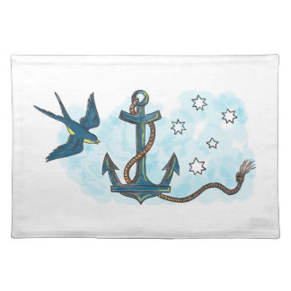 Anchor Swallow Southern Star Tattoo Place Mats