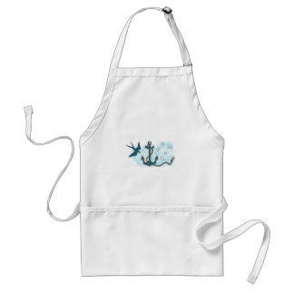 Anchor Swallow Southern Star Tattoo Standard Apron