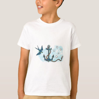 Anchor Swallow Southern Star Tattoo T-Shirt