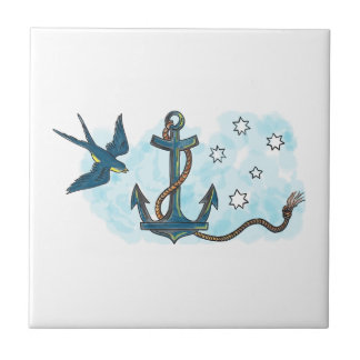 Anchor Swallow Southern Star Tattoo Tiles