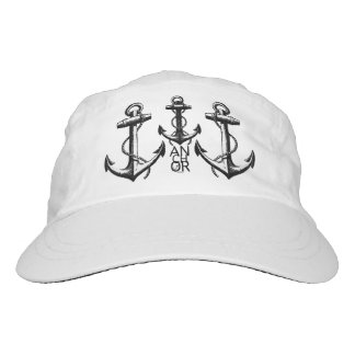 Anchor Sway™ Black Triple Anchor Hat