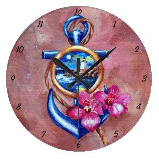 Anchor Tatoo Clock