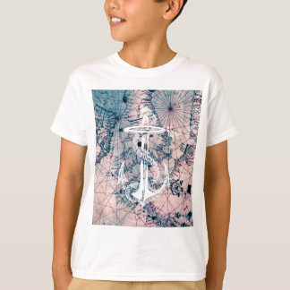 Anchor Vintage Nautical Map Sea Chart T-Shirt