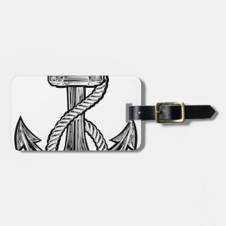 Anchor Vintage Style Tattoo Illustration Luggage Tag