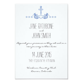 Anchor Wedding Invite