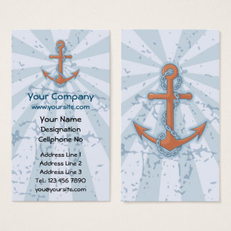 Anchor with Chain Business Card