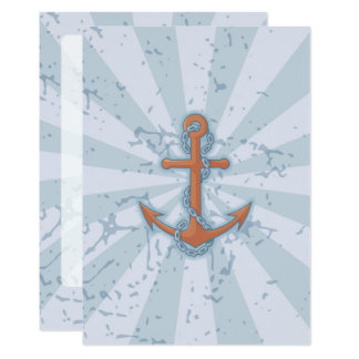 Anchor with Chain Card