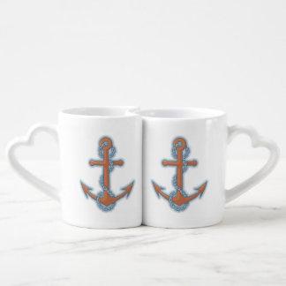 Anchor with Chain Coffee Mug Set