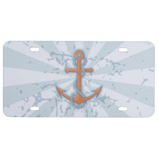 Anchor with Chain License Plate