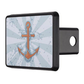 Anchor with Chain Tow Hitch Cover