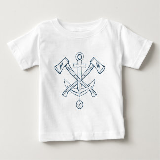 Anchor with crossed axes. Design elements Baby T-Shirt
