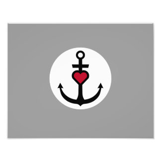 Anchor with Heart Photo Art