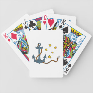 Anchor with Rope and Southern Star Drawing Bicycle Playing Cards