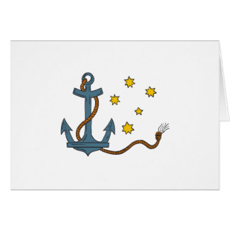 Anchor with Rope and Southern Star Drawing Card