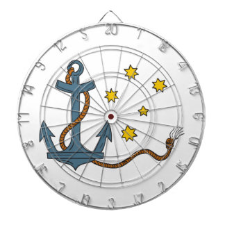 Anchor with Rope and Southern Star Drawing Dartboard