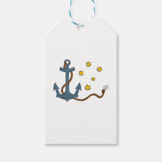 Anchor with Rope and Southern Star Drawing Gift Tags