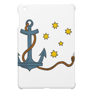 Anchor with Rope and Southern Star Drawing iPad Mini Case