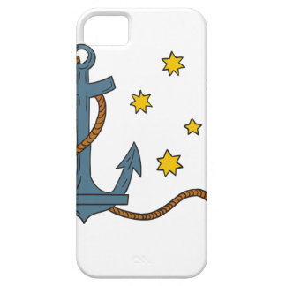 Anchor with Rope and Southern Star Drawing iPhone 5 Case