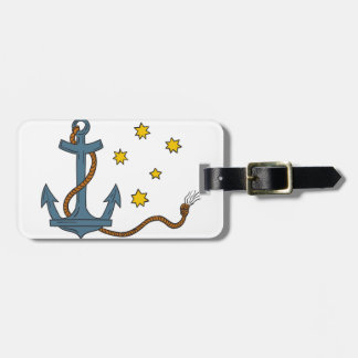 Anchor with Rope and Southern Star Drawing Luggage Tag