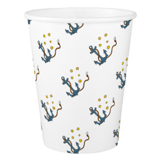 Anchor with Rope and Southern Star Drawing Paper Cup