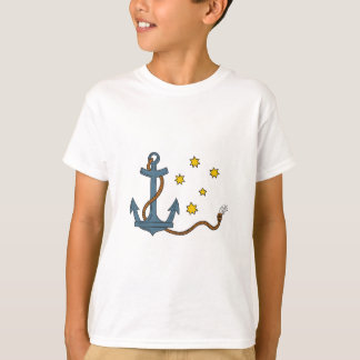 Anchor with Rope and Southern Star Drawing T-Shirt
