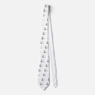 Anchor with Rope and Southern Star Drawing Tie