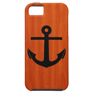 Anchor, Wood Grain iPhone 5 Case
