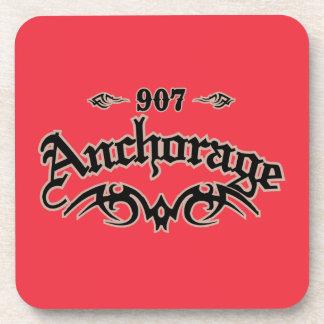 Anchorage 907 drink coaster