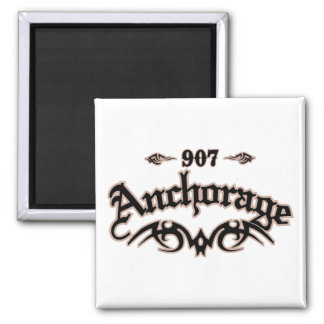 Anchorage 907 square magnet
