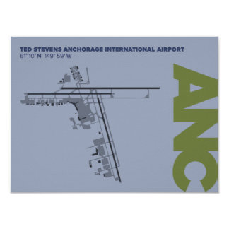 Anchorage Airport (ANC) Diagram Poster