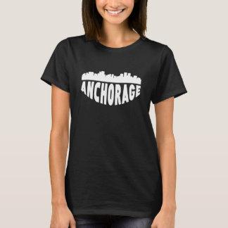 Anchorage AK Cityscape Skyline T-Shirt