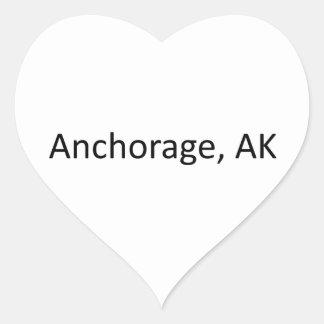 Anchorage, AK Heart Sticker