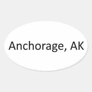 Anchorage, AK Oval Sticker