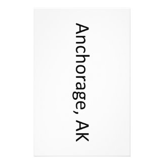 Anchorage, AK Personalized Stationery