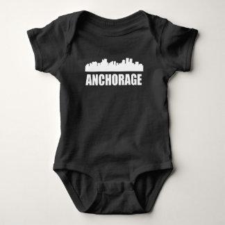 Anchorage AK Skyline Baby Bodysuit