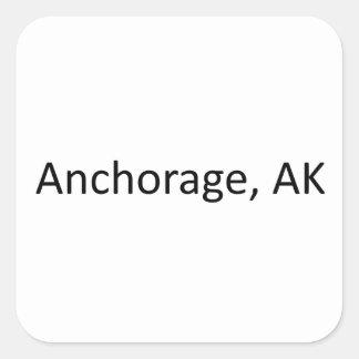 Anchorage, AK Square Sticker