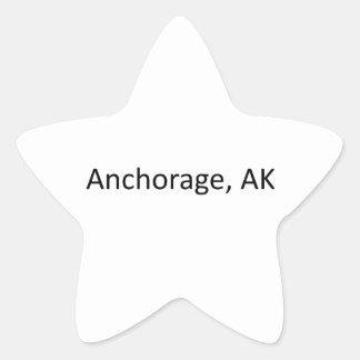 Anchorage, AK Star Sticker