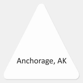 Anchorage, AK Triangle Sticker